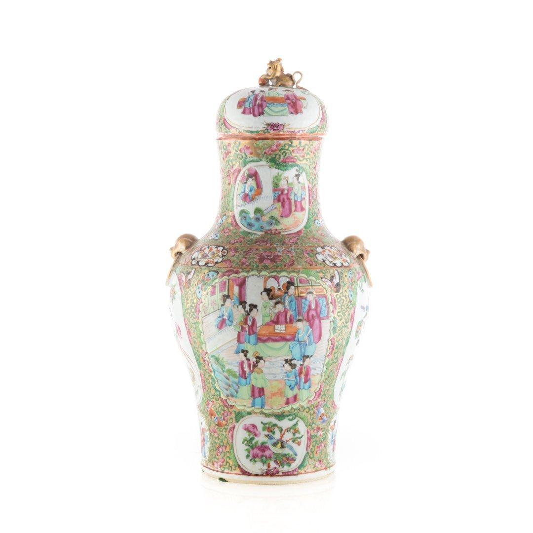 Chinese Export Rose Medallion porcelain vase - 3
