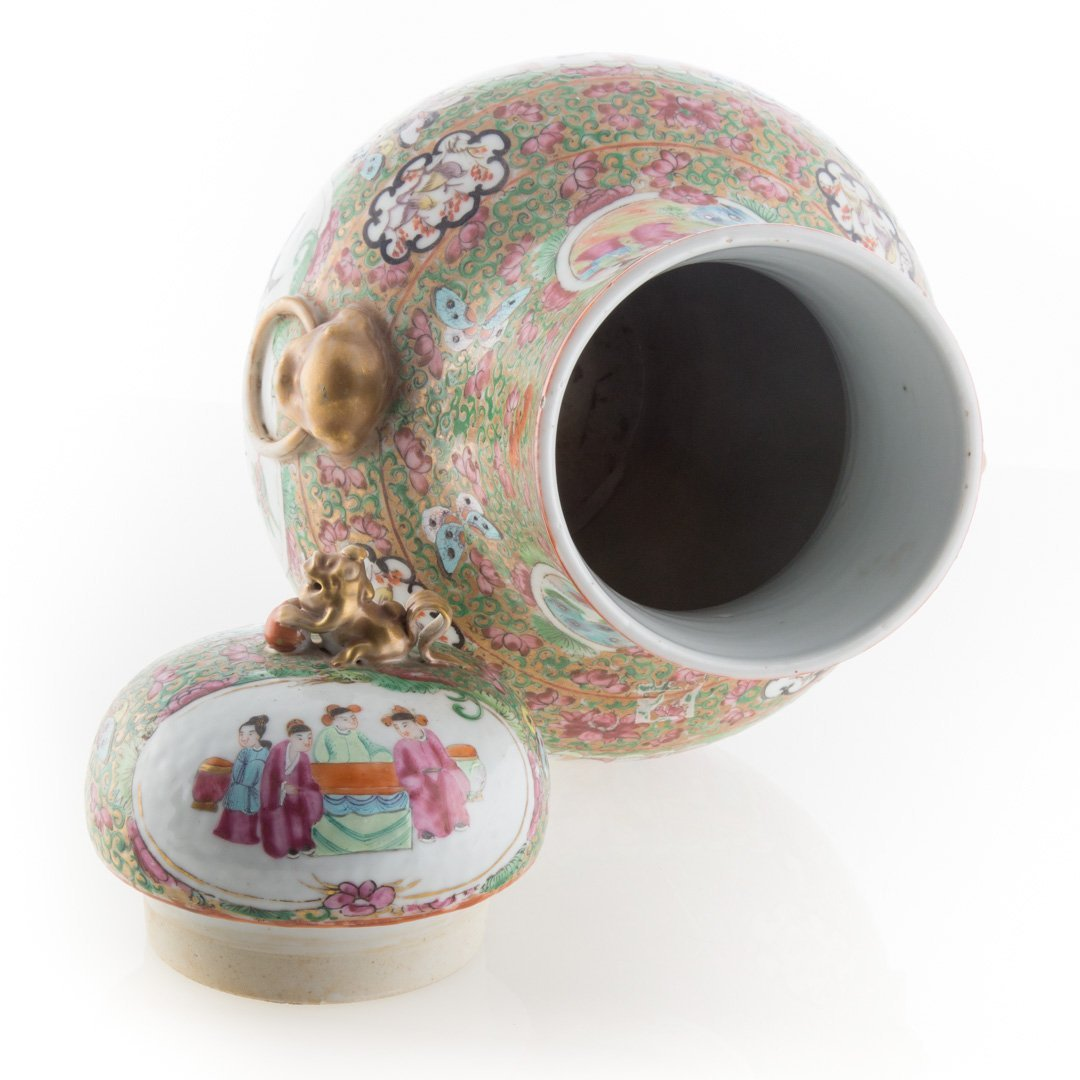 Chinese Export Rose Medallion porcelain vase - 4