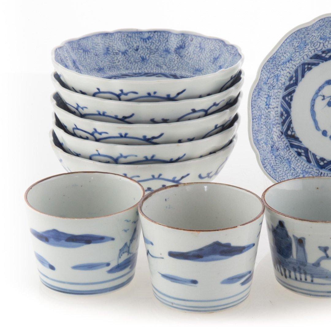 Six Japanese Arita bowls and beaker cups - 2