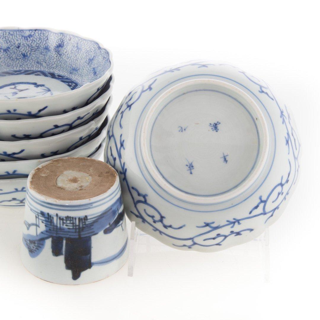 Six Japanese Arita bowls and beaker cups - 3