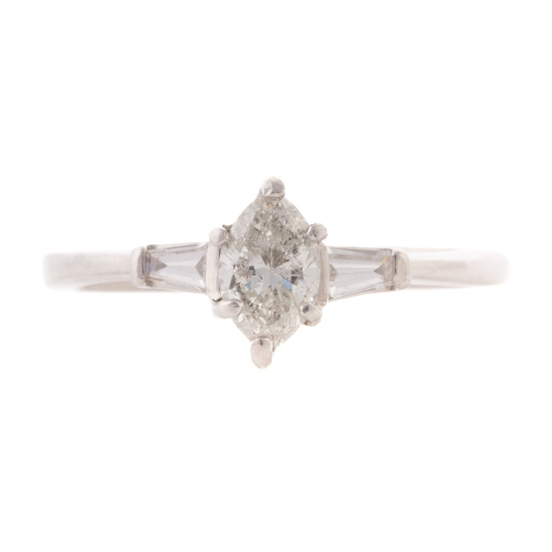 A Lady's Platinum Diamond Engagement Ring