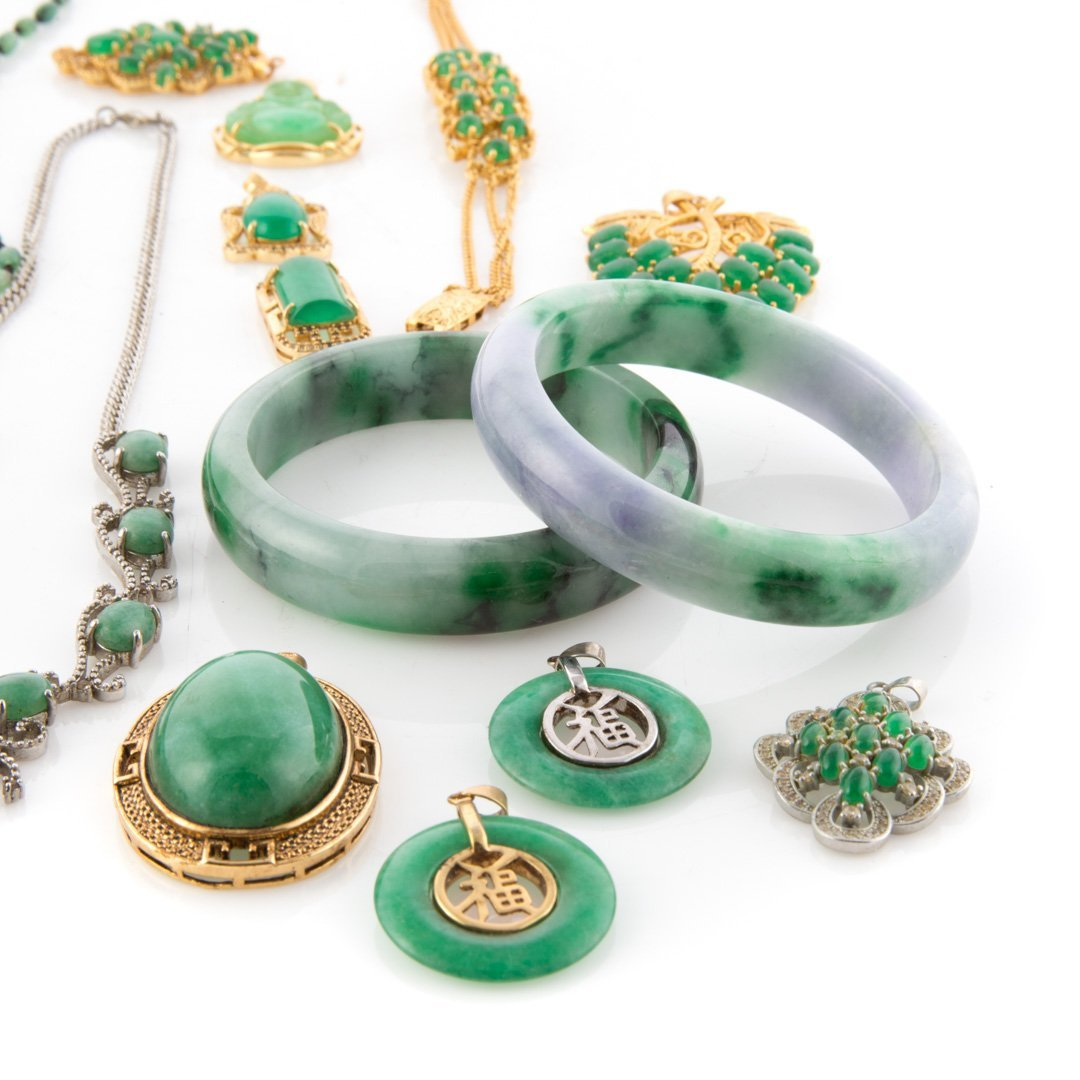 A Selection of Jade Jewelry - 3