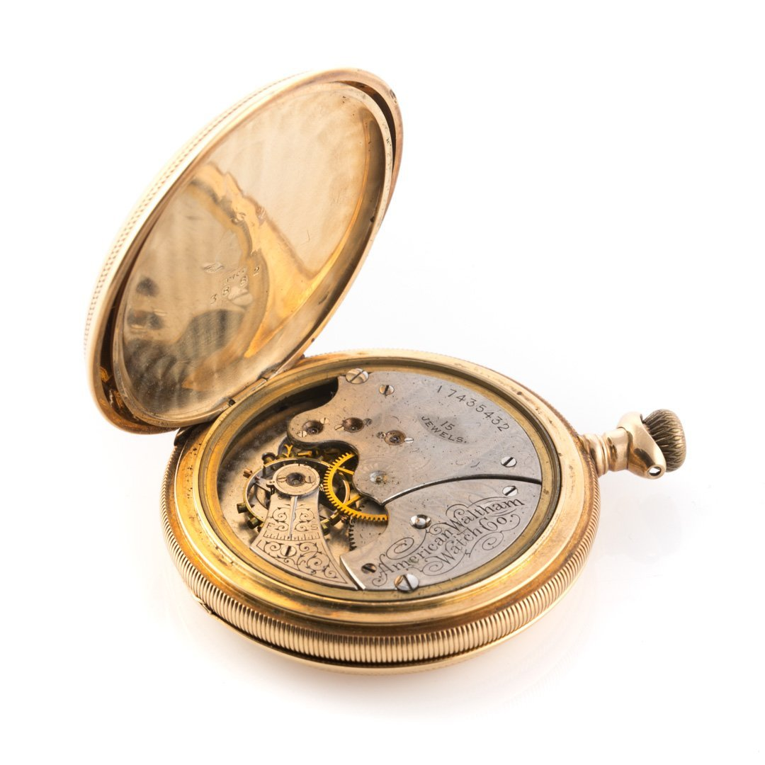 An 18K Gent's Waltham Pocket Watch - 3