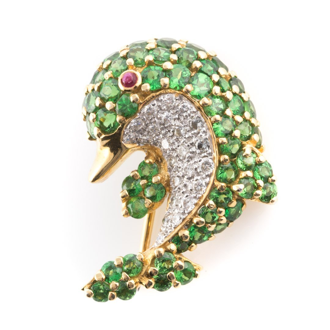 A Pair of 18K Dolphin & Ladybug Brooches by LeVian - 4