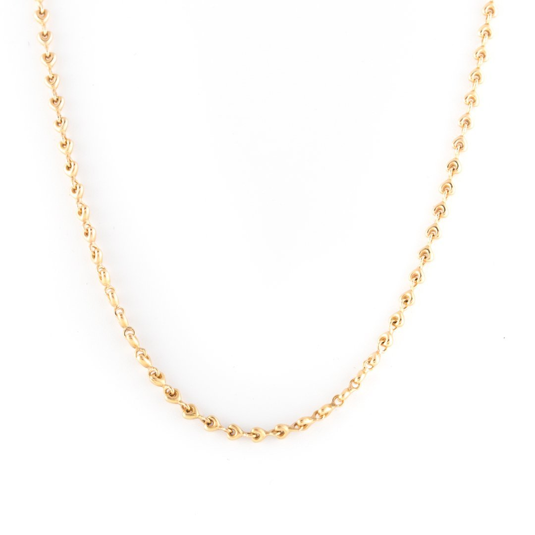 A Lady's Equestrian Link Neck Chain in 14K Gold