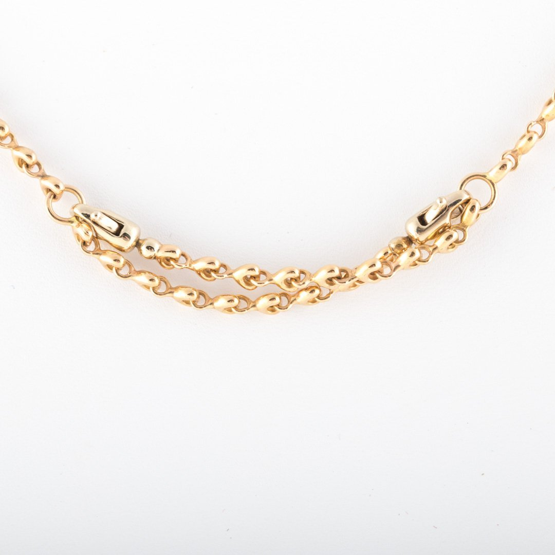 A Lady's Equestrian Link Neck Chain in 14K Gold - 3