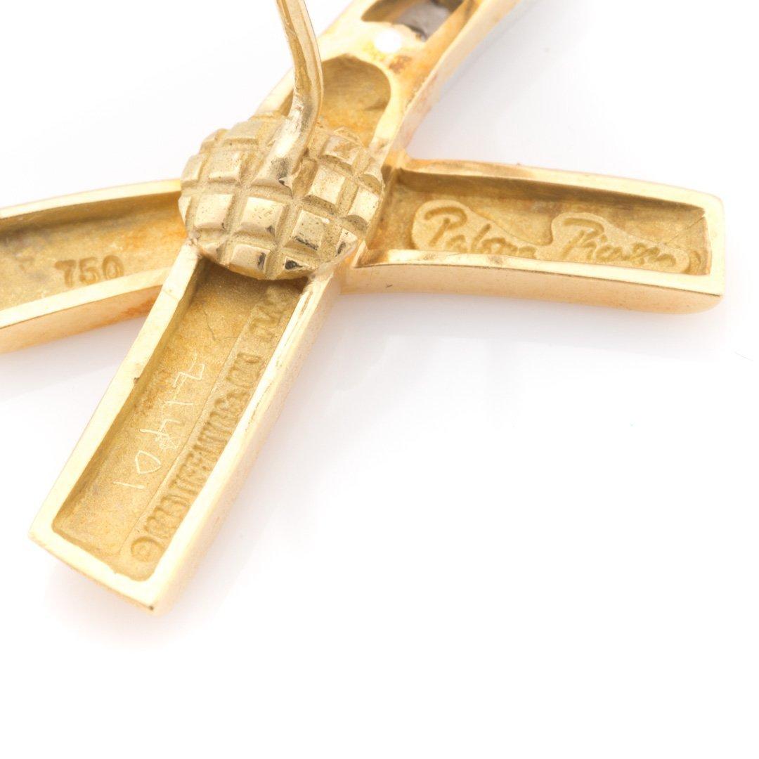 "A Pair of Diamond ""X"" Earrings by Tiffany & Co - 4"