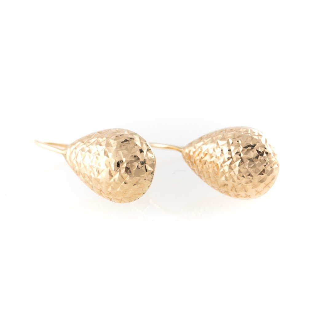 A Trio of Lady's Earrings with Diamond Studs - 2