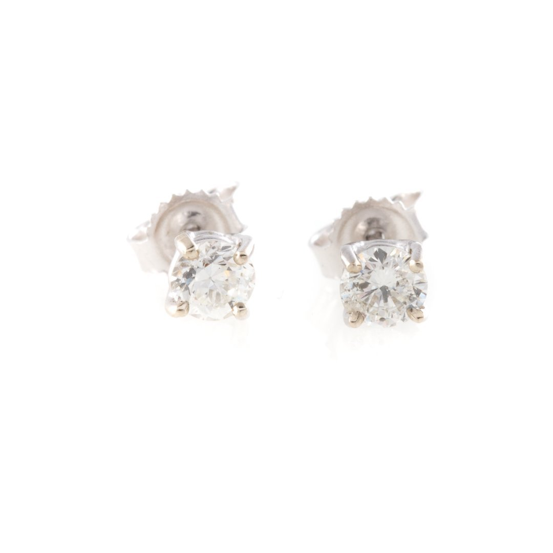 A Trio of Lady's Earrings with Diamond Studs - 3