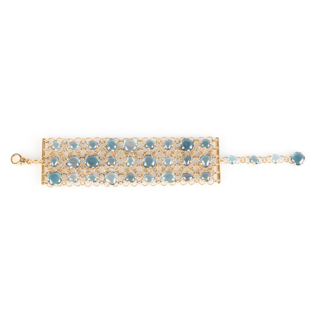 A Pomellato Bracelet with Blue Topaz 18K Rose Gold