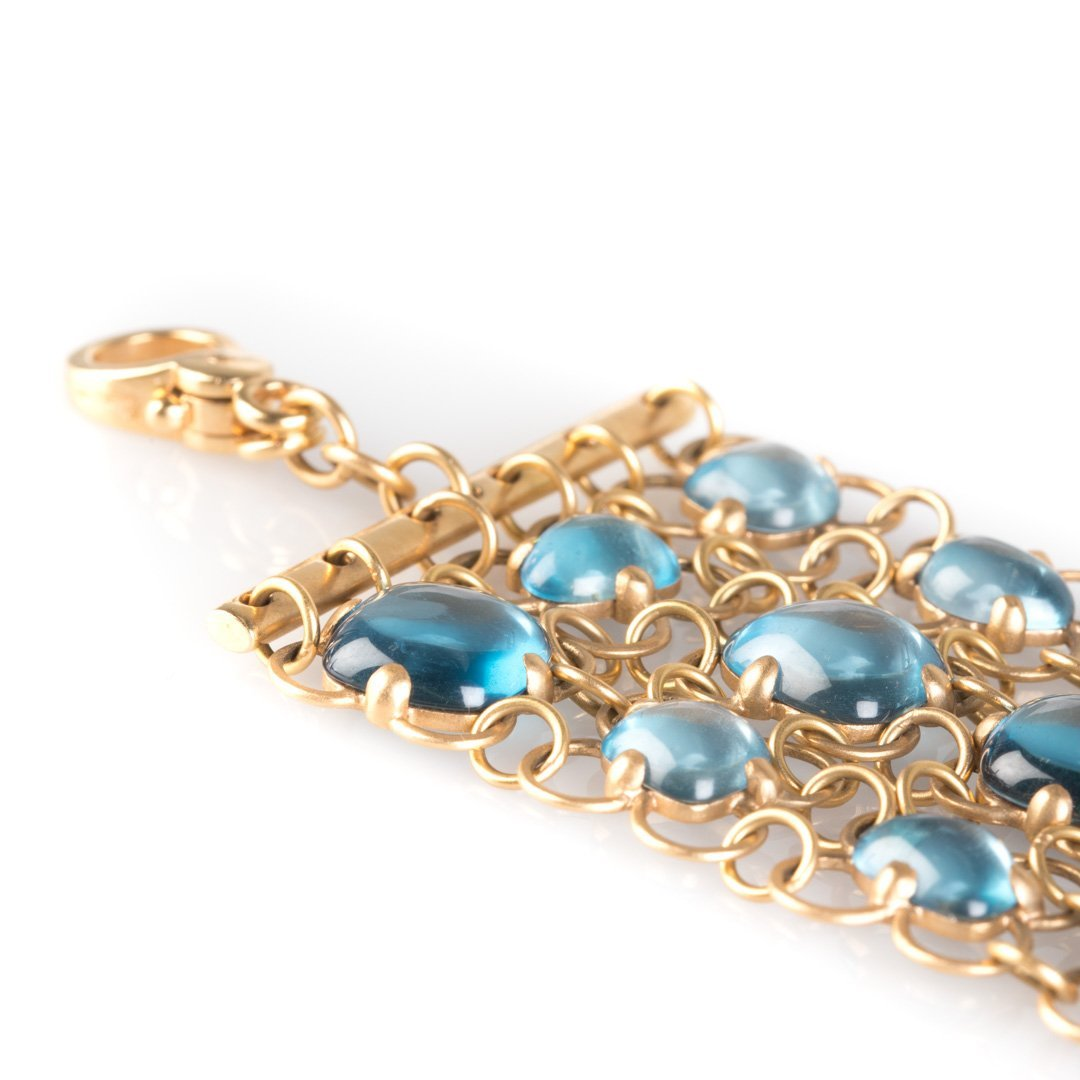 A Pomellato Bracelet with Blue Topaz 18K Rose Gold - 3
