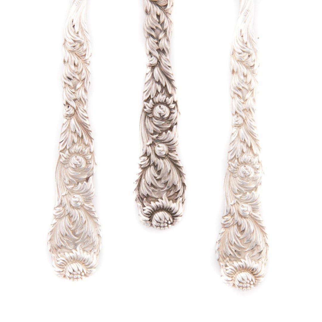 "Rare Tiffany ""Chrysanthemum"" sterling nut picks - 2"