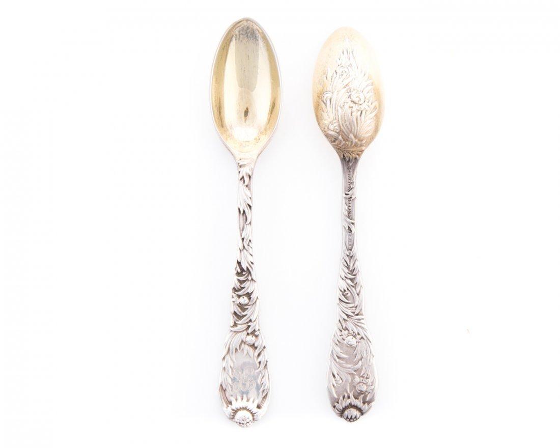 """Tiffany """"Chrysanthemum"""" sterling demitasse spoons - 3"""