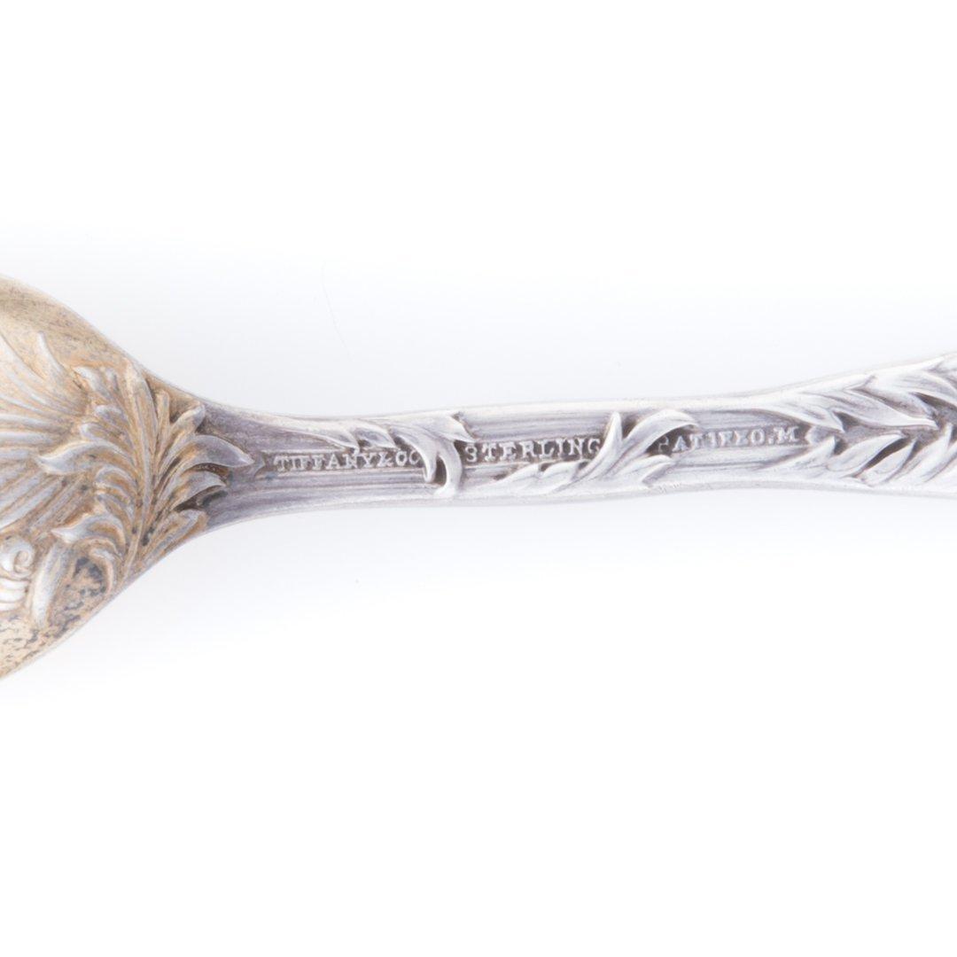 """Tiffany """"Chrysanthemum"""" sterling demitasse spoons - 4"""