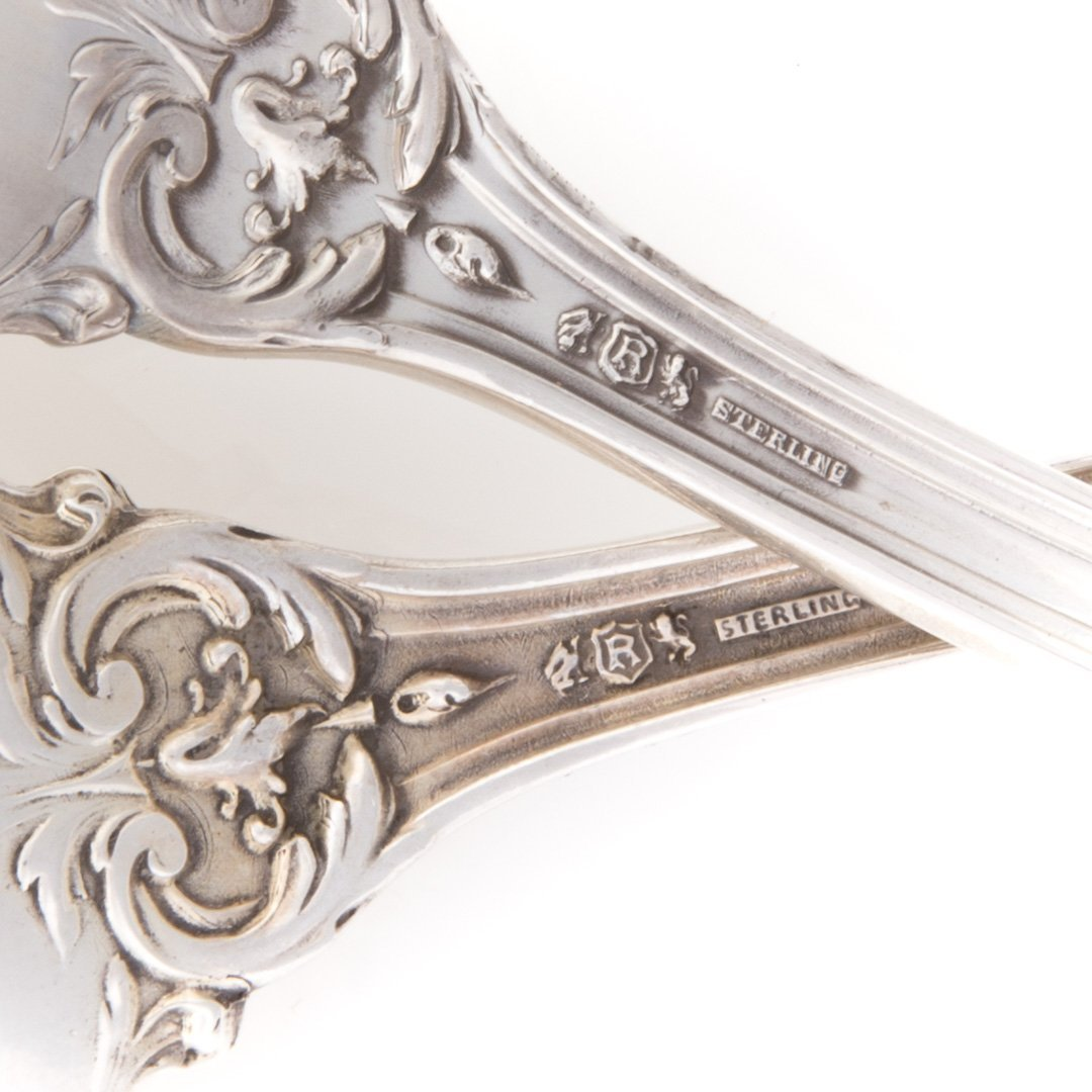 """Reed & Barton """"Francis I"""" sterling serving spoons - 3"""