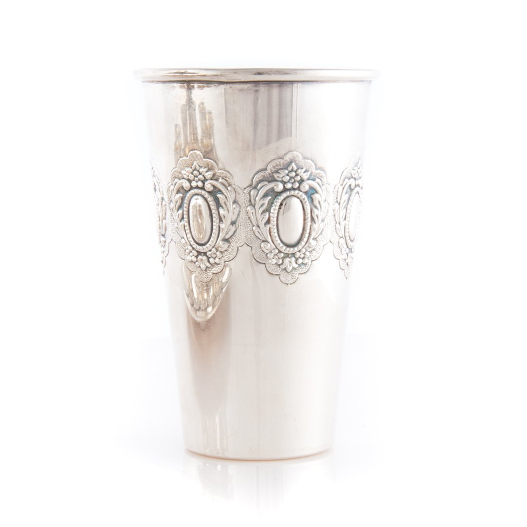 Judaica Masorett sterling Kiddush cup fountain - 4
