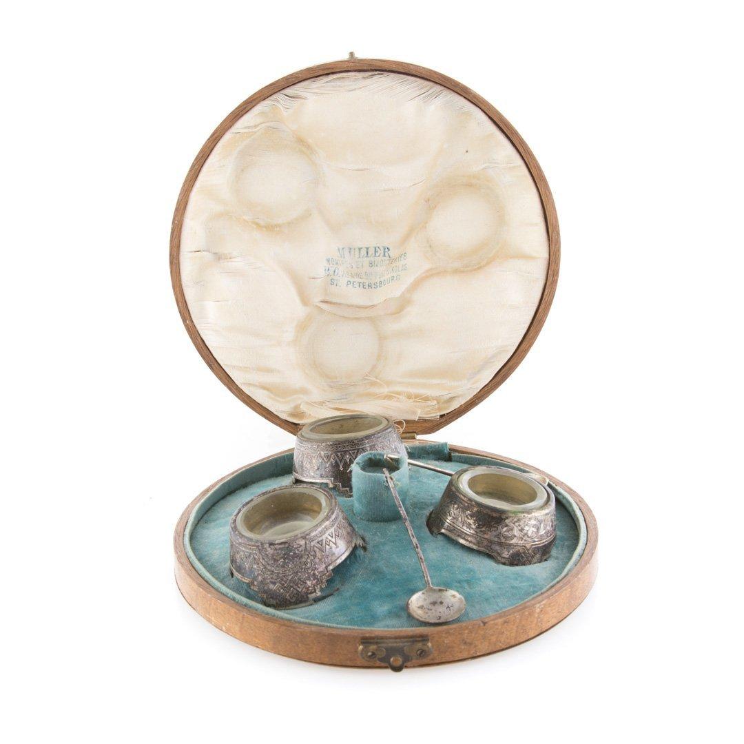 Continental silver individual salts w/original box