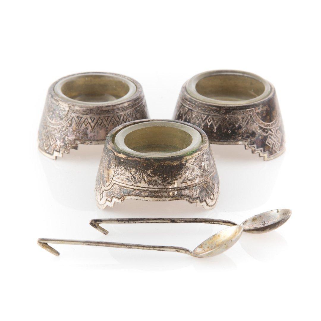 Continental silver individual salts w/original box - 2