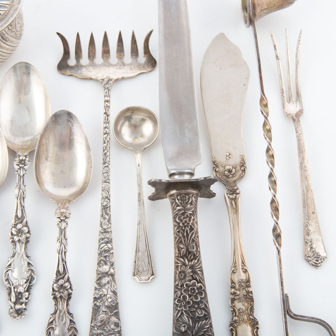 Stieff Schofield and other sterling flatware - 3