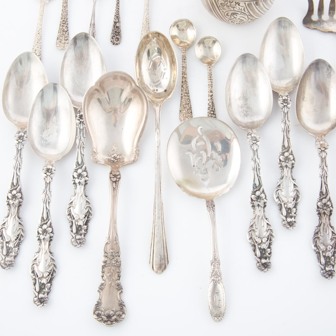 Stieff Schofield and other sterling flatware - 4