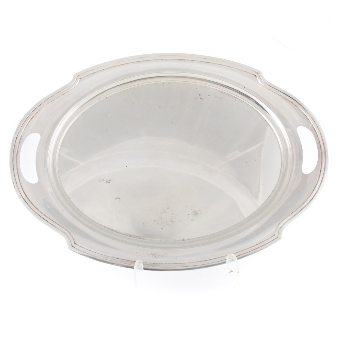 """Wallace """"The Washington"""" sterling silver oval tray"""