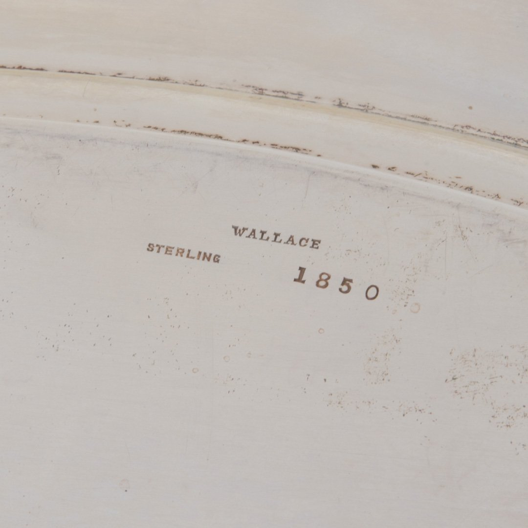 """Wallace """"The Washington"""" sterling silver oval tray - 4"""
