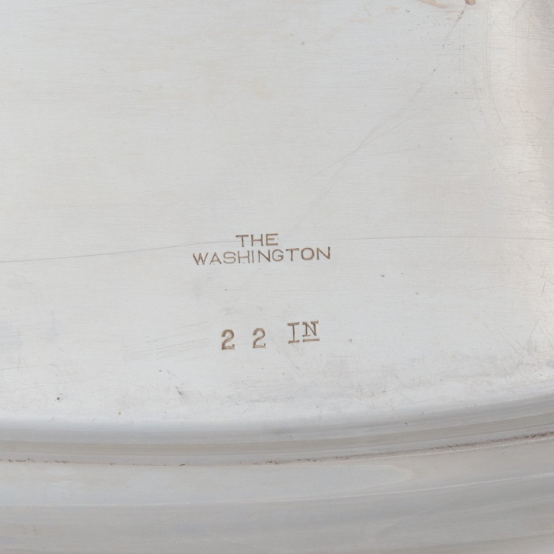 """Wallace """"The Washington"""" sterling silver oval tray - 5"""