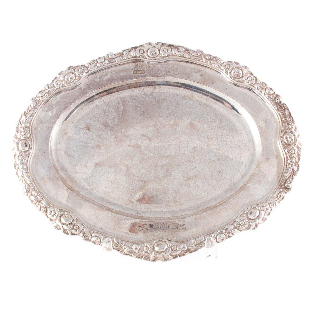 Georgian sterling silver oval platter circa 1819
