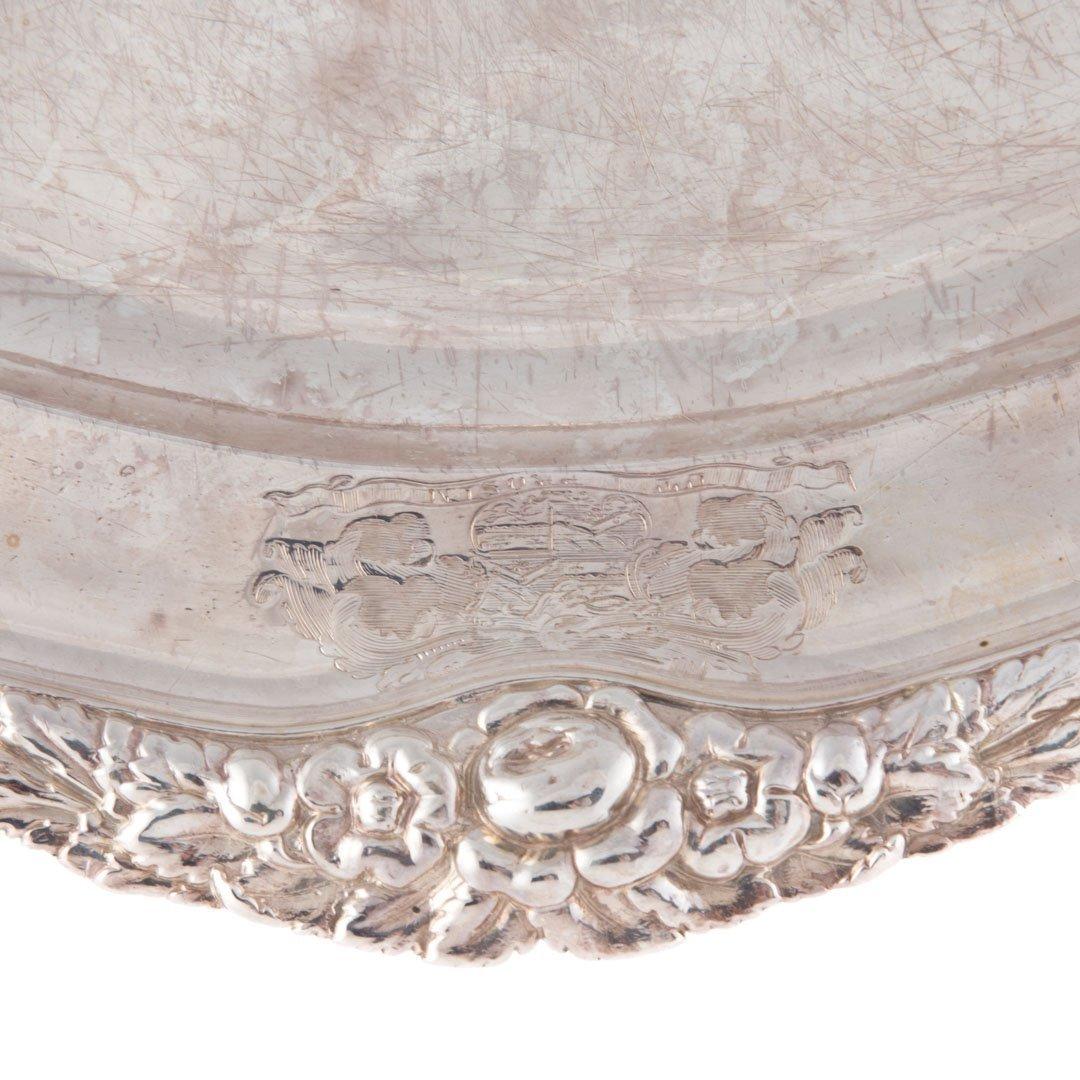 Georgian sterling silver oval platter circa 1819 - 5