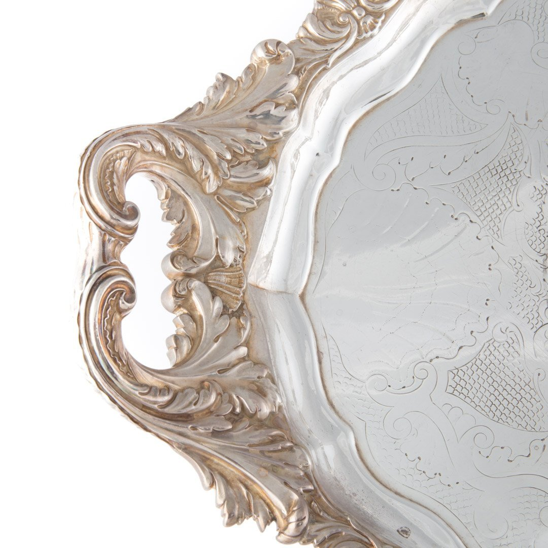 George IV sterling silver oval tray circa 1820 - 3