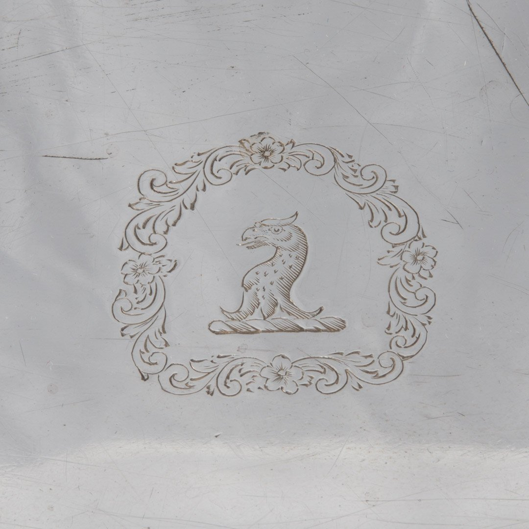 George IV sterling silver oval tray circa 1820 - 5