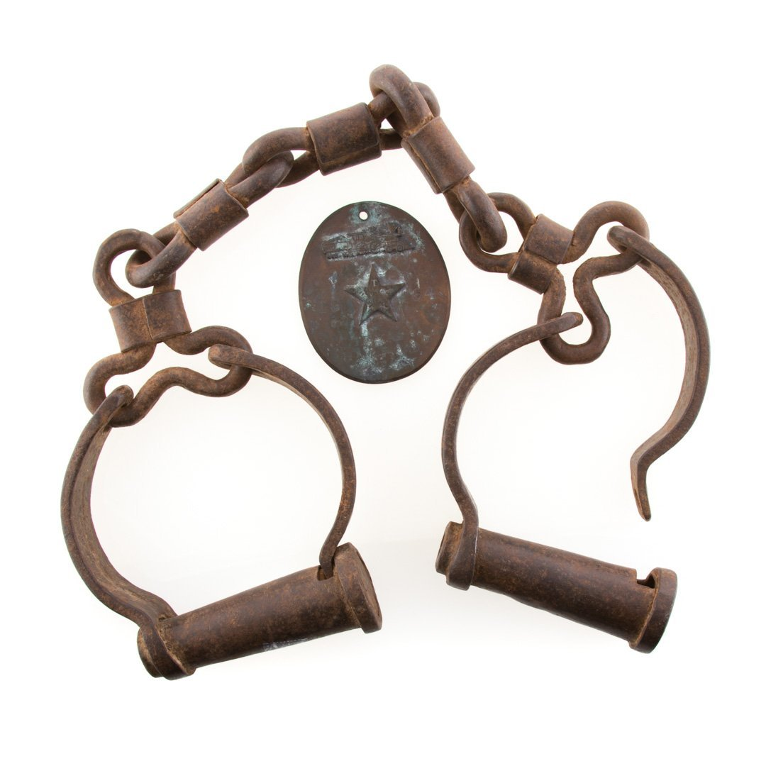Set of wrought iron shackles