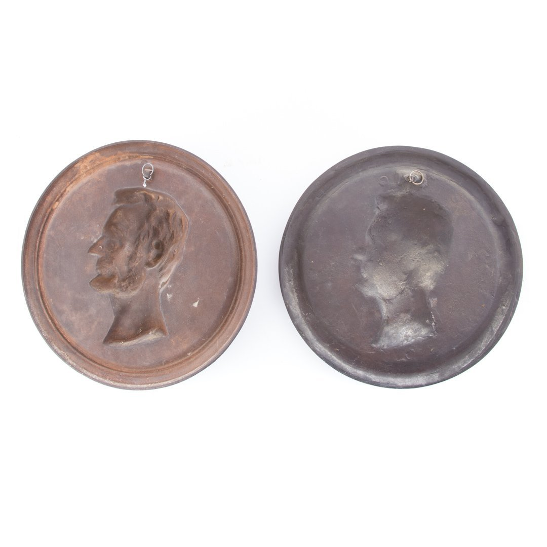 Two variant portrait plaques - 5