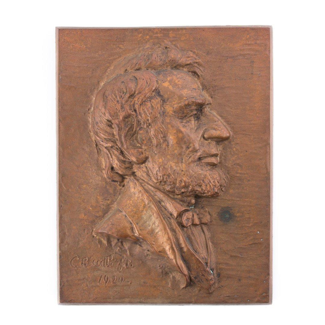 Bronze portrait plaque, Riccelli
