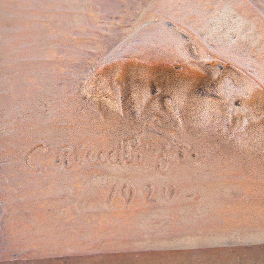 Bronze portrait plaque, Riccelli - 3