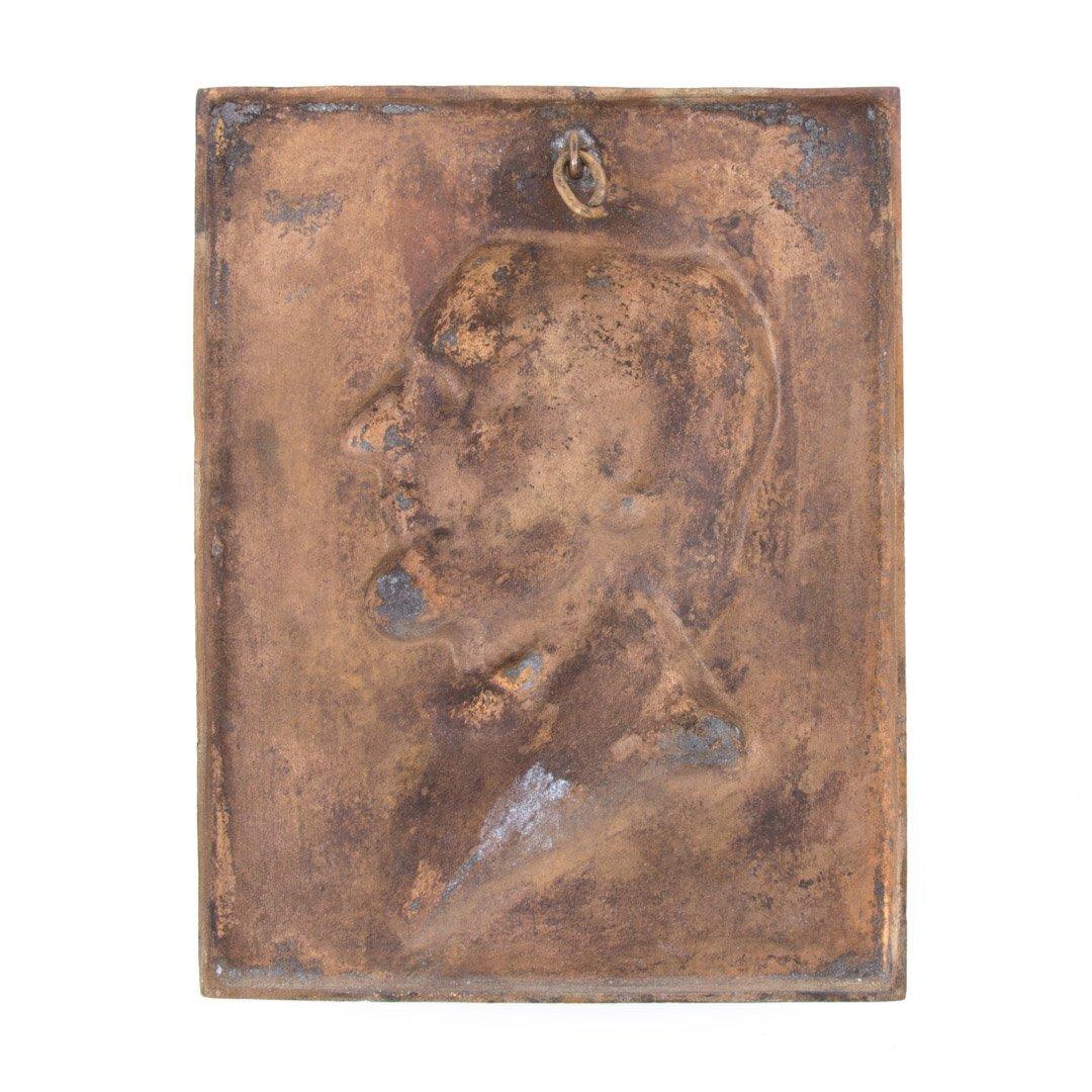 Bronze portrait plaque, Riccelli - 4