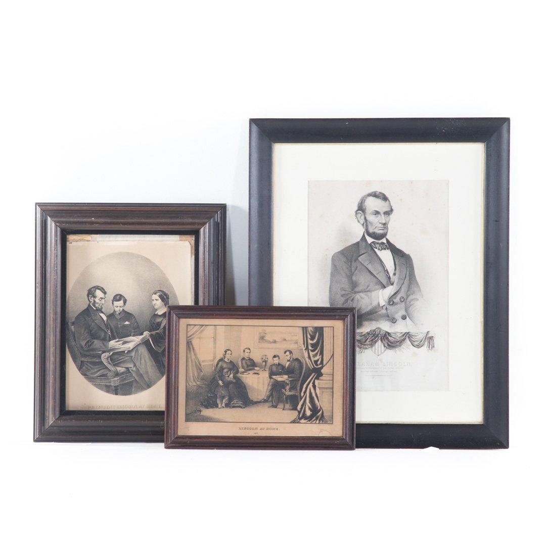 Three portrait prints