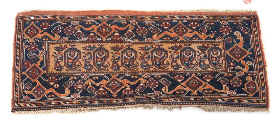 Antique Shiraz back face, approx. 1.9 x 4.1