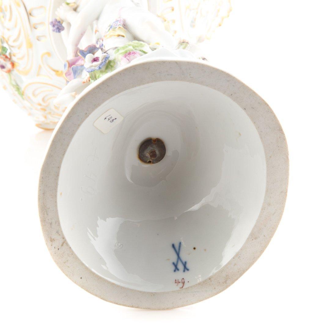 Meissen porcelain figural compote - 4