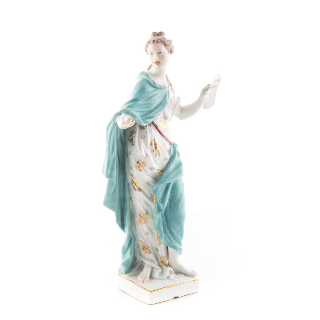 German porcelain figure: Melpomene