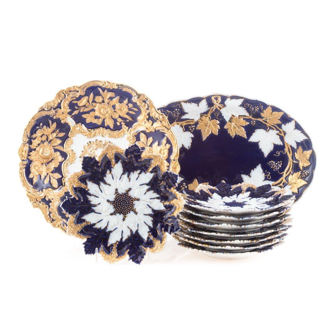 14 Meissen porcelain table articles