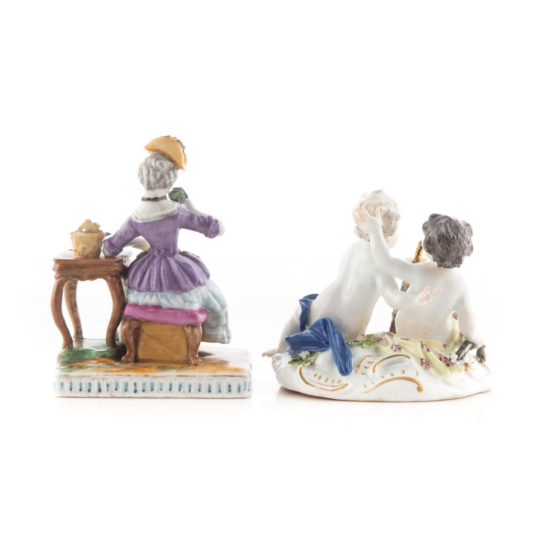Two German porcelain figure groups - 2