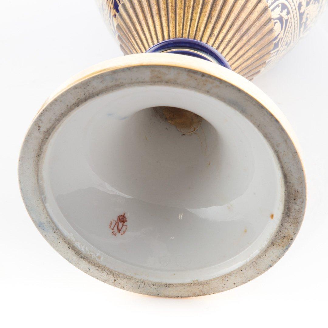 Pair Napoleon III bleu de roi porcelain marks - 3