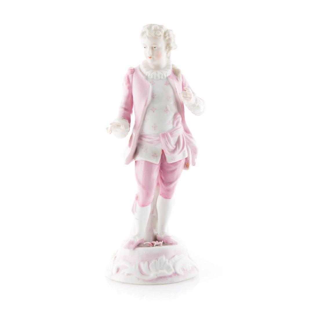Sitzendorf porcelain figure of a Rococo gentleman