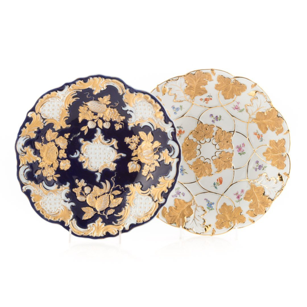 Two Meissen porcelain bowls