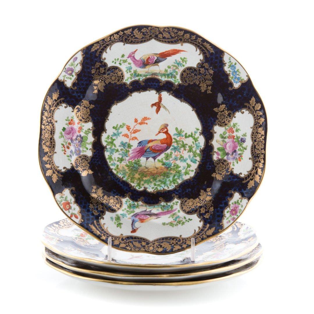 Six English china table articles - 2