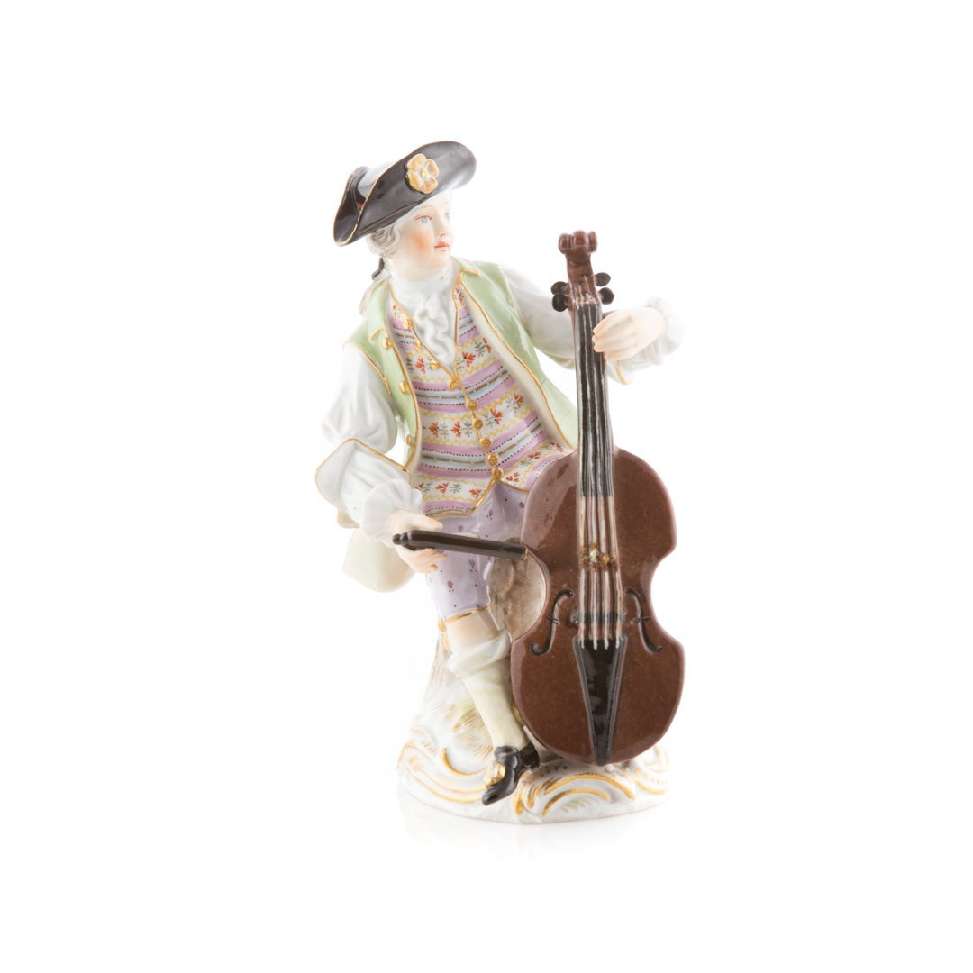 Meissen porcelain figure of a cellist