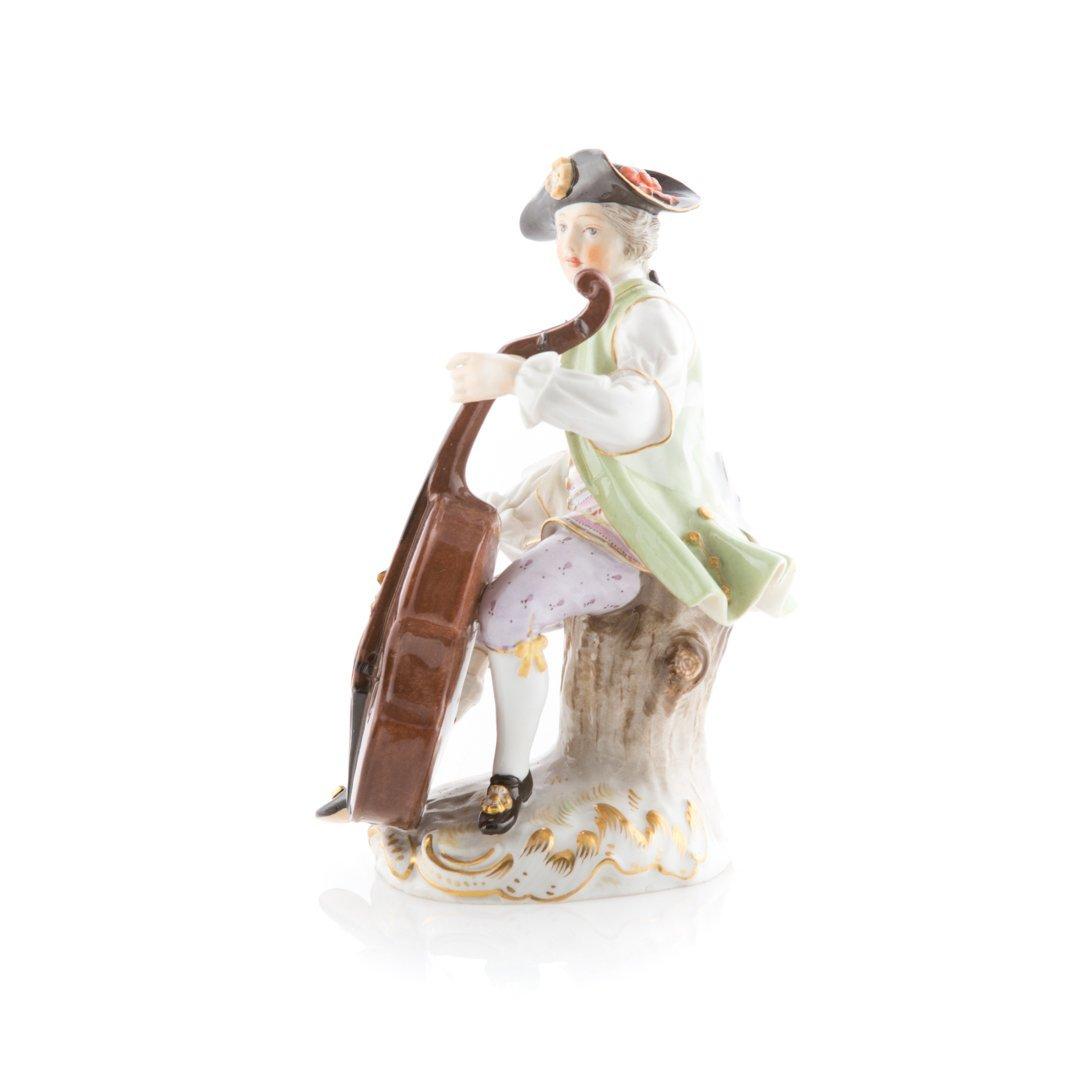 Meissen porcelain figure of a cellist - 2
