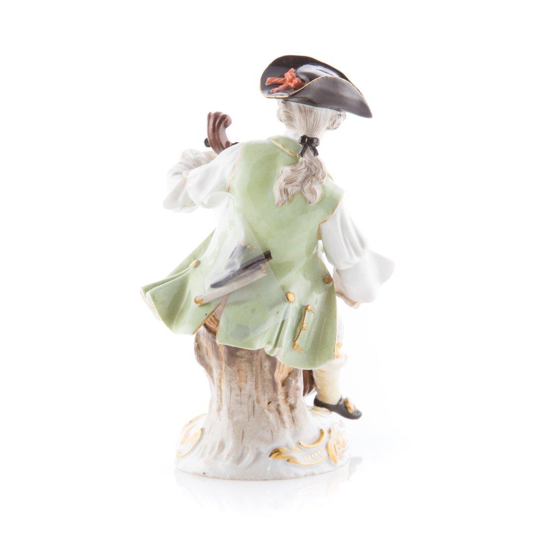 Meissen porcelain figure of a cellist - 3
