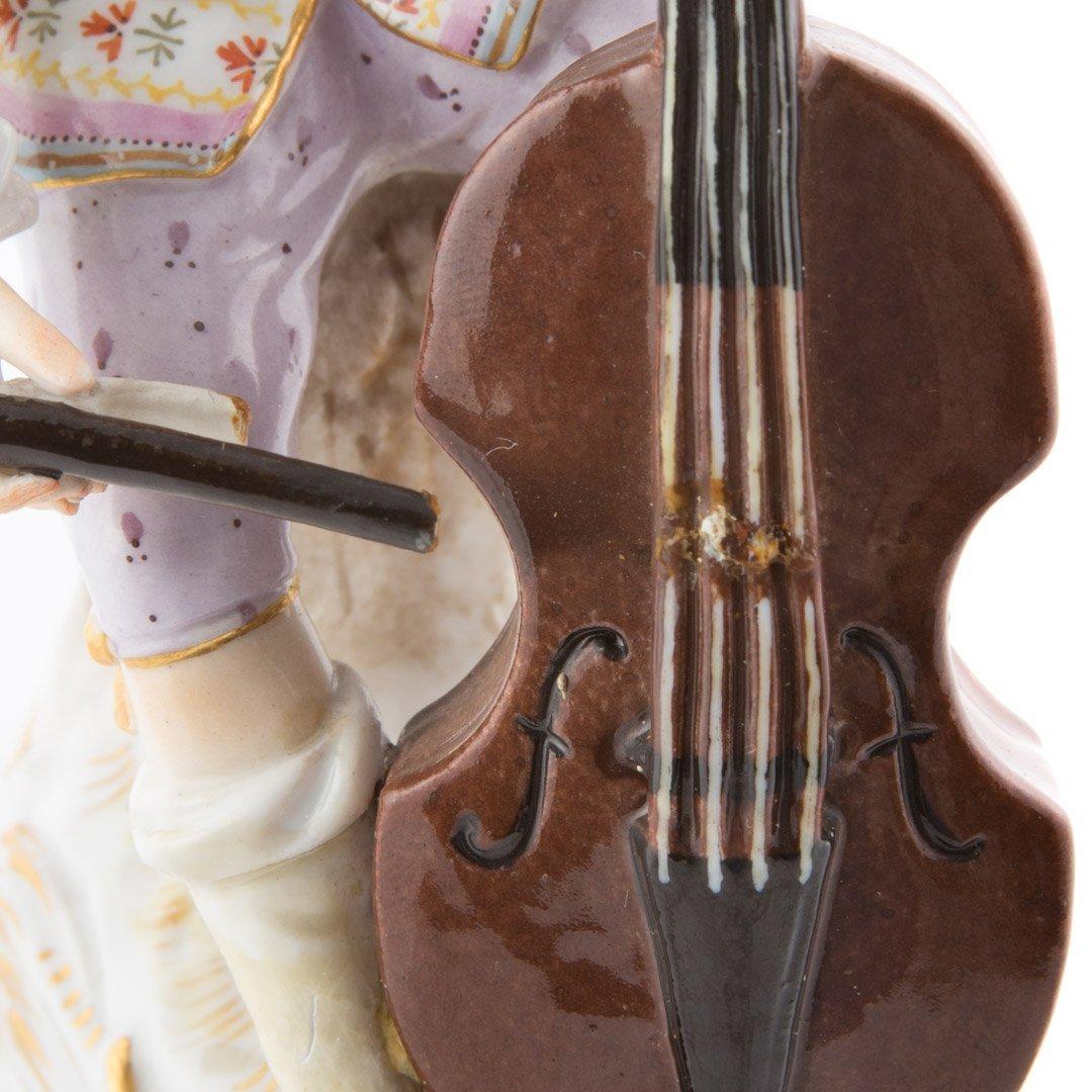 Meissen porcelain figure of a cellist - 4
